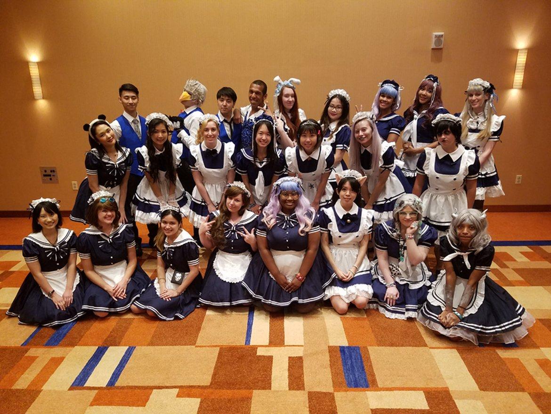 Otakon Maid Cafe Maids and Butlers